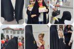 حرکت گروهی و منسجم بانوان با حجاب رشت در میدان شهدای ذهاب