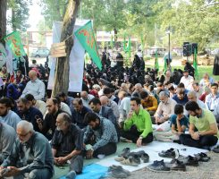 گزارش تصویری از مراسم دعای عرفه در جوار مزار شهدای گمنام-بوستان ملت