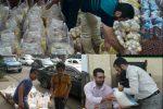 توزیع ۶۰ بسته مواد غذایی در بین نیازمندان شهرستان رشت