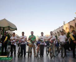 گزارش تصویری/ ورود دوچرخه سواران گیلانی به مشهد